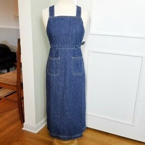 Y2K Gap Denim Bib Apron Dress NWT